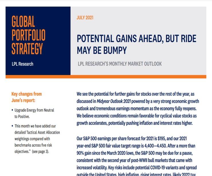Global Portfolio Strategy   July 15, 2021